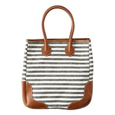 Loving this bag!! Wish it was less money... The Porchstripe Turnstile Tote by Madewell. $128 http://media-cache1.pinterest.com/upload/58828338852666643_nXX34s1X_f.jpg earmarksocial clothing and style