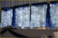 Silver and blue wedding decorations 00274