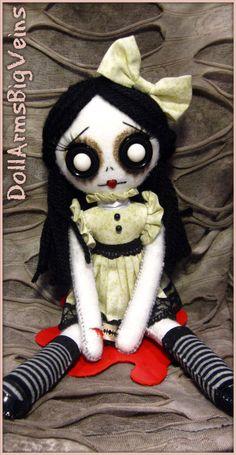 SHaunt Your House...uicide Girl handmade doll, via Etsy.