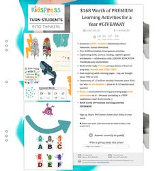 $168 Worth of PREMIUM Learning Activities for a Year #GIVEAWAY