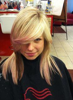 """Trend Watch: Pastel Hair  """"Blushing Blonde"""" #QueenofGlam Natalie Thompson via www.texturehairsalon.ca"""