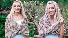 Donna Wolfe from Naztazia http://naztazia.com shows you to crochet a mobius (moebius) twist shawl wrap and hooded cowl. Although it looks kind of complicated...