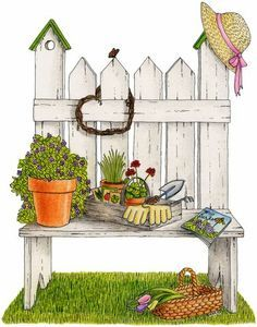 pinterest of garden cliparts - Google Search