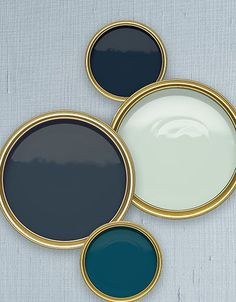 Sherwin-Williams Naval, Benjamin Moore Gentleman's Gray, Benjamin Moore Quiet Moments, Benjamin Moore Slate Teal. Four Austin designers pick their favorite shades of blue.