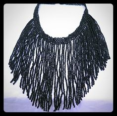 Beaded Bib Necklace This beautiful beaded bib necklace is an eye grabber! Jewelry Necklaces
