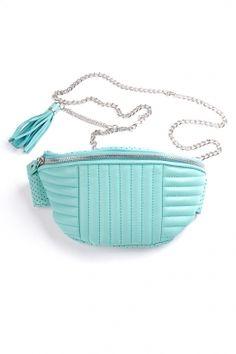 mata hari x lovemade - leather fanny bag (mint)