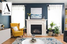 """""""They wanted the room to feel fresh and inviting with a warm, coastal style."""""""