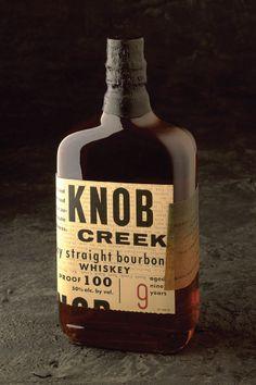 Knob creek Package designed by Joe Duffy