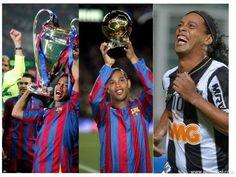 #Ronaldinho, el primer jugador en la historia que gana Champions League, Balón de Oro y Copa Libertadores