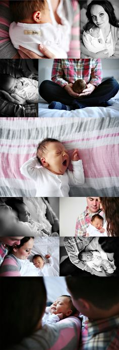 Love these laid back newborn photos. They don't need to be any fancier!
