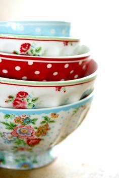 Custom painted French bowls make me happy | Unpainted Café Au Lait Bowls: http://www.foodservicewarehouse.com/browne-halco/564006/p1354076.aspx?utm_source=%26utm_medium=%26utm_content=%26utm_campaign=