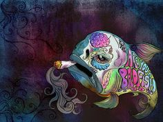 one of my older pieces, but all you happy sublime fans keep asking for it – so here it is, available as a sweet poster or print to color up your walls! / are you a badfish too?