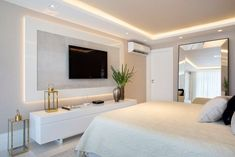 188 best master bedroom ideas you're dreaming 9 Bedroom Tv Wall, Bedroom Setup, Bedroom Wall Designs, Bedroom Closet Design, Interior Design Living Room, Master Bedroom, Bedroom Decor, Bedroom Ideas, Bedroom With Tv
