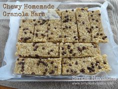 Chewy Homemade Granola Bars - Better Than The Box?
