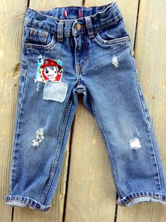 Boys Paw Patrol Distressed Jeans Patchwork Denim Toddler Jeans Birthday Paw Patrol Outfit Everyday Wear Trending Denim by MountainMadeDenim on Etsy
