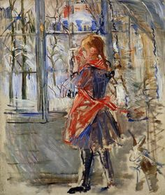 Child with a Red Apron - Berthe Morisot  1886