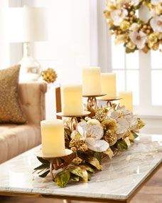 Winter White & Gold Candlerail