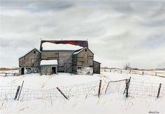 John Kasyn, Old Barn in Winter. 129393999772569773_caabe05d-6f97-4a7d-8f82-c03144ab4443_299374_570.Jpeg (570×394)