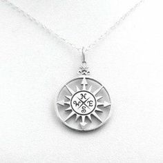 lindsay sterling jewelry | Compass Sterling Silver Nautical Necklace by Unrealfind | Jewelry  Didn't make it but kinda love it.