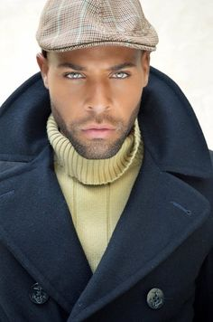 The turtleneck is a perfect compliment to this coat.