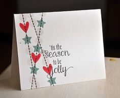 'Tis The Season Card by Maile Belles for Papertrey Ink (October 2013)