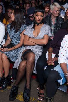New York Fashion Week: Rihanna at Opening Ceremony, cattiness in the camera pit and more awesome gossip Rihanna Mode, Rihanna Riri, Rihanna Style, Rihanna Outfits, New York Fashion, High Fashion, Streetwear, Rihanna Looks, Clothes