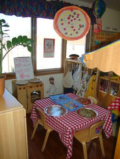 pizza parlor, dramatic play--Little Red Hen Makes a Pizza