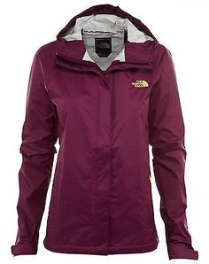 North Face Venture Womens A8AS-GP5 Pamplona Purple Waterproof Rain Jacket Size M