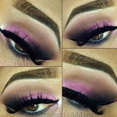 Pink Smokey Eye.  Click the pic to see the products she used. #beauty #makeup #nightout