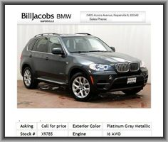 2013 BMW X5 xDrive35i SUV  Bumpers: Body-Color, Security System, Power Front Seats W/Driver Seat Memory, Online Information Services, Tilt Steering Wheel, Emergency Communication System