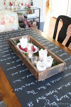 Chalkboard Table Run