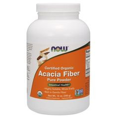 Acacia Fiber Organic Powder 12 oz by Now Foods Acacia Gum, Fiber Supplements, Smoothie Ingredients, Weight Loss Smoothies, Calorie Diet, Herbalism, At Least, Organic, Pure Products