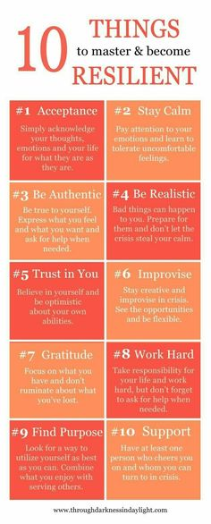 10 Ways to Master and Become Resilient.