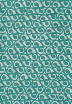 I like this one a lot...not my top choice but I think it works the best with my fabrics and colors. RugStudio presents The Rug Market America Pop Accents Yang Teal/White Hand-Hooked Area Rug