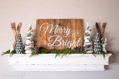 Last week, I shared my rustic alpine Christmas mantel with you all and I probably teased you all a bit with the stencil I made for the sign. Sorry about that;) I made this sign from a much larger wooden wall hanging that I cut in half. I created a stencil on my Silhouette and …