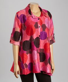 Another great find on #zulily! Pink Circle Button-Up Top by Come N See #zulilyfinds