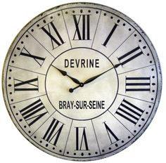 I have been looking for a large wall clock with roman numerals and I think I have finally found one that would work!