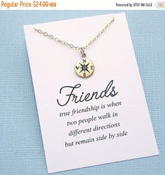 Hey, I found this really awesome Etsy listing at https://www.etsy.com/listing/250725583/sale-best-friend-gift-compass-necklace