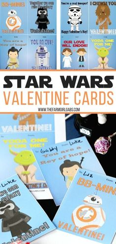 Calling all Star Wars fans! Spread some love over the galaxy this Valentine's Day. Print these Free printable Star Wars Classroom Valentine Cards. Star Wars fans will love these free printable Star Wars Valentine Cards. Starwars Valentines Cards, Classroom Valentine Cards, Valentines Day Activities, Valentine Day Crafts, Disney Valentines, Star Wars Classroom, Writing Prompts For Kids, Kids Writing, Printable Star
