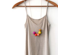 Handmade bead necklaces by  Not Tuesday via design files