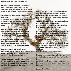 Poem: My Friend No-one Could See by Jacqueline Nash Old Oak Tree, My Friend, Friends, Thats Not My, Poems, Old Things, Amigos, Poetry, Verses