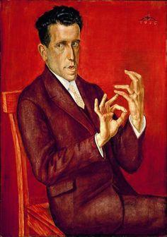 Portait of the Lawyer Hugo Simons, 1925 - Otto Dix (2 de diciembre de 1891, Gera, Alemania - 25 de julio de 1969, Singen (Hohentwiel), Alemania). Periods Períodos: Expresionismo, Nueva objetividad, Arte moderno. El trabajo pictórico de Otto Dix abarca una gran diversidad de estilos, aunque el gran público conoce, principalmente, sus pinturas sobre la guerra