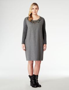 Marina Rinaldi | Knit and Flannel Dress