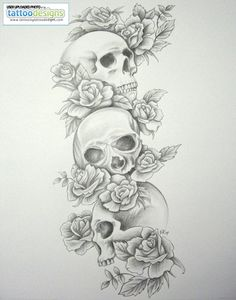 Higher Resolution Skull Tattoo Sleeves Skull Roses Sleeve By Daniellehope - Either Sleeve or in my thigh