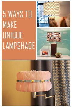 5 Ways to Make Unique Lampshade / 5WaysTo.net