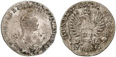 VI Groschen. Russian Coins. Russian Coinage for East Prussian. Moscow mint, 1761. 2,86g. ELISABETHA.I. Vestigial Period after PRVSS. Cf.Bit 808-809. R! About EF. Starting price 2011: 600 USD. Unsold.