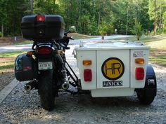 Ed George 's album Motorcycle Tent Trailer, Trike Motorcycle, Mini Camper, Touring Motorcycles, Ways To Travel, Motorhome, Motorbikes, Recreational Vehicles, Super Cars