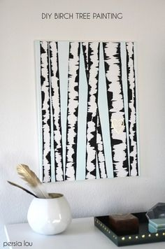 This decorating technique is SO popular on Pinterest. When she pulls off the tape, you'll see why!
