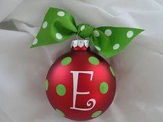 homemade ornament tutorial... cute, cute, cute!!