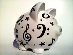 music note piggy bank!                                                                                                                                                                                 Más